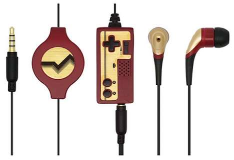 Retro Gamer Earphones - The Nintendo Famicom Retro 2 Con Earphone Mic Plays Up Nostalgia