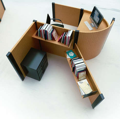 Typography Office Desks - Fold Yard by Benoit Challand Makes Open Workspaces More Creative