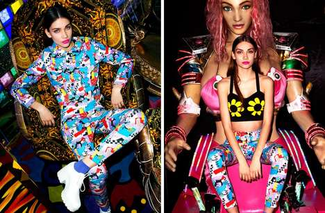 Psychedelic Street Fashion Lookbooks - Lazy Oaf's Spring '14 Women's Lookbook is Wild