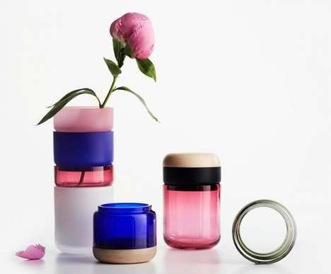 Chic Segmented Vessels - The Pi-no Pi-no Vase by Maija Puoskari is Gorgeously Modifiable