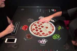 Pizza Hut's Conceptual Interactive Table Top Builds Custom Pizzas