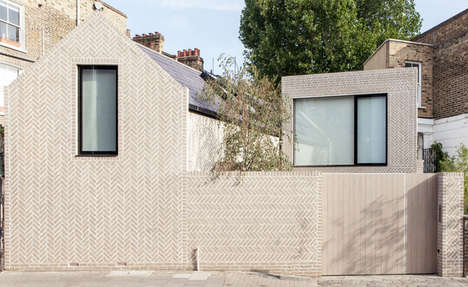 Distinct Brick Residences - The Herringbone House by Atelier ChanChan is Modernly Angular