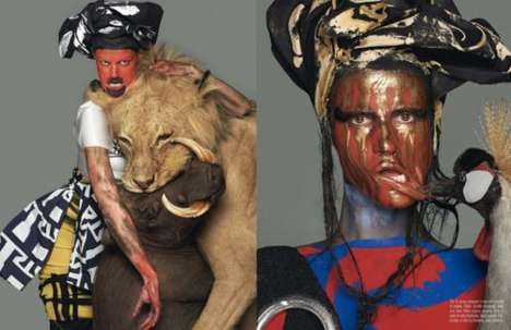 Animal-Riding Genie Editorials - The Vogue Italia March 2014 Abracadabra Editorial is Outrageous