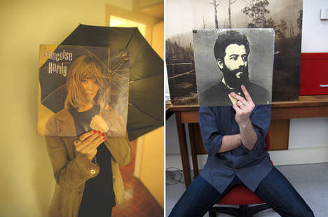 Superimposed Album Faces - Vinyl Art is Juxtaposed Against Real Life Situations
