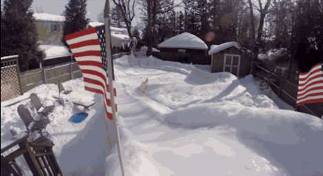 Makeshift Olympic Backyards - This Long Island Unlce Created a Backyard Luge Track for His Family