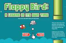 Flying Bird Game Infographics - This Flappy Bird Graphic Charts Out the Game's Rise and Fall