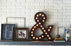 Homemade Ampersand Lighting