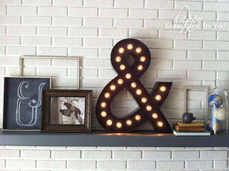 Homemade Ampersand Lighting - The DIY Marquee Light is a Fun Vintage Industrial Project