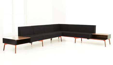 Compound Chair Sectionals - Tombolo Sofa is Made Up of Modules in Your Ideal Numbers and Formations