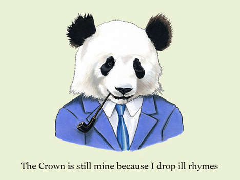 Ancestral Animal Rap Portraits - The Animal Rap Portraits by Berkley Illustrations are Cleverly Cute