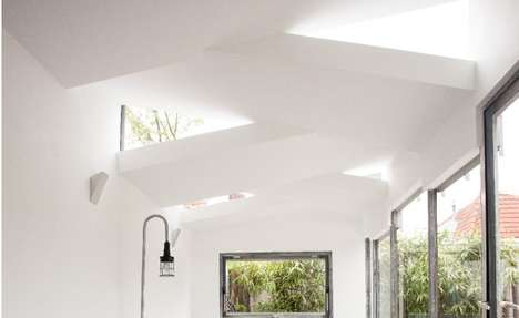 Beautifully Braided Ceilings - The Renovation Dickmansstraat Weaves a Home Extension into the Garden