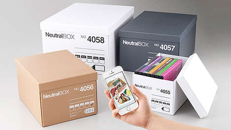 Digital Photo Cataloging Boxes - NeutralBOX by King Jim Helps People Pack and Unpack with Ease