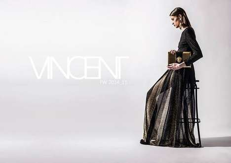 Edgily Elegant Fashion - The Vincent FW14 Collection is Made for a Sophisticated Urban Goddess