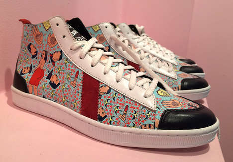 Economy-Supporting Sneakers - Sawa Shoes Collaborates with Shine Shine For a New Pair of High-Tops