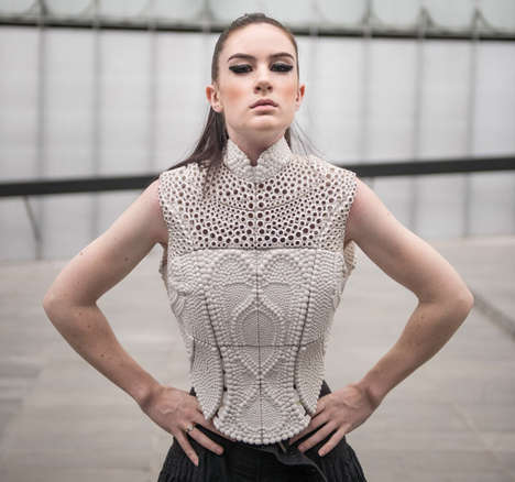 Water-Inspired Tech-Made Fashion - The 3D Printed Top by XYZ Workshop Wins International Competition