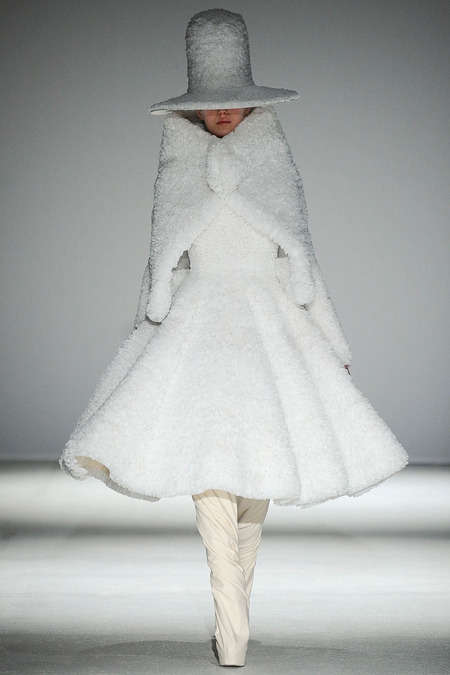 Ice Queen Couture - The Gareth Pugh Fall 2014 Styles Look Post-Apocalyptic