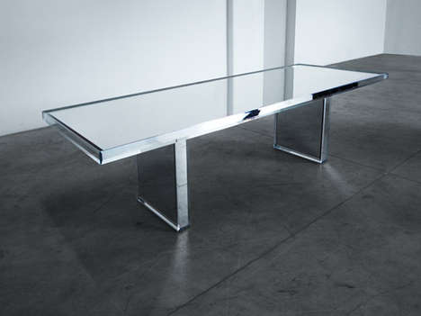 Minimalist Reflective Furniture - The Prism Mirror Table by Tokujin Yoshioka is Strikingly Shiny