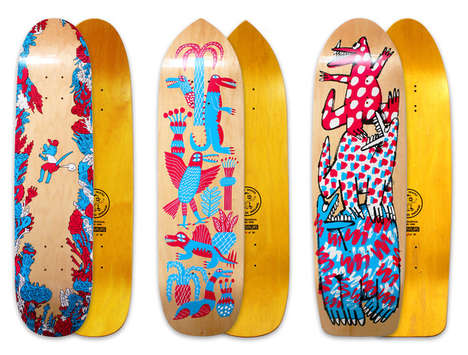 Street Art Skateboards - Matthew Bromley's Self-Founded Company Features Artful Equipment