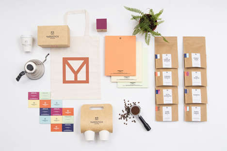 Clinical Colorful Coffee Branding - Yardstick Coffee