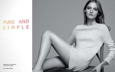 Monochrome Opulently Chic Editorials - Amanda Norgaard Stars in the Tank Magazine Spring 2014 Issue