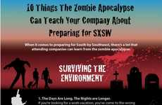 Zombie-Themed Festival Infographics