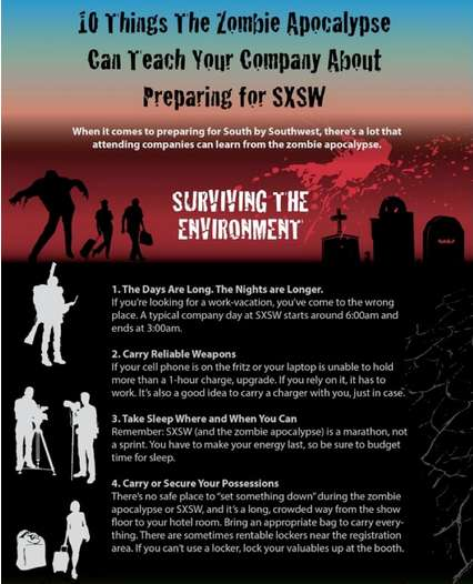 Zombie-Themed Festival Infographics - These Zombie Apocalypse Stats are Perfect for Summer