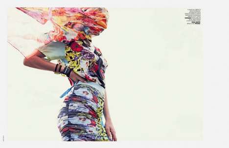 Mismatched Bright Print Editorials - Bregje Heinen Stars in the Marie Claire Italia March 2014 Issue