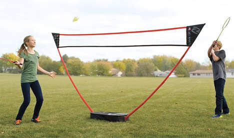 Pop-Up Racket Nets - The Instant Badminton Court Erects Quickly to Prepare for Impromptu Sports