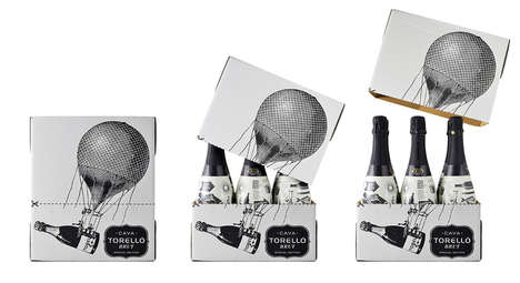 Antique Ballooner Branding - Torello Special Edition Wine Packaging Has an Old Adventurous Spirit
