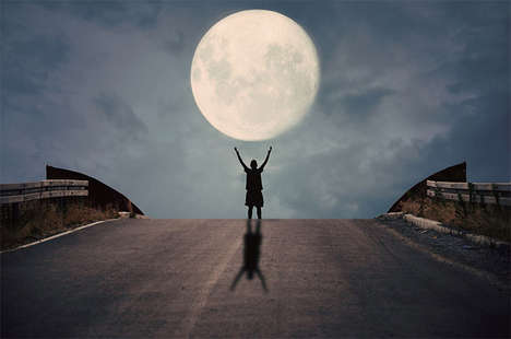 Imaginative Playful Moon Photography - Adrian Limani Creates Fascinating Illusions with No Props