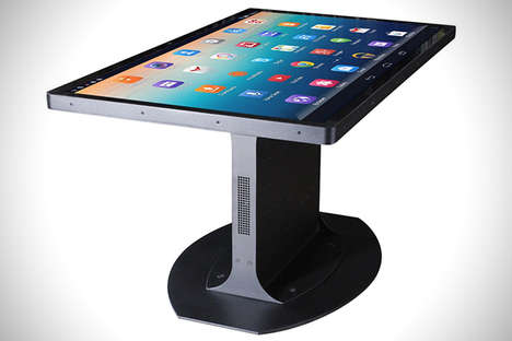 30 Touch Screen Table Designs - From Touchscreen Dining to Futuristic Classroom Desks