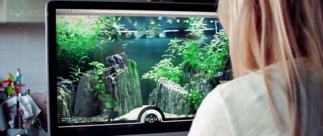 Remote Fish Feeders - Users from Around the World Can Feed Fish Through This Virtual Aquarium