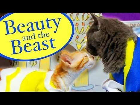 Feline-Focused Disney Parodies - The Pet Collective Beauty and the Beast Remake is Feline Funny