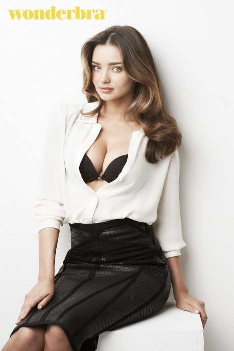 Bodacious Lingerie Campaigns - Miranda Kerr Looks Seductive in the New Wonderbra Campaign
