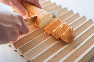 The Pragma Breadboard Has a Corrugated Surface for Catching Crumbs
