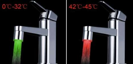 Thermochromatic Kitchen Taps - LED Water Faucet Indicates Temperature to Save From Scalded Fingers
