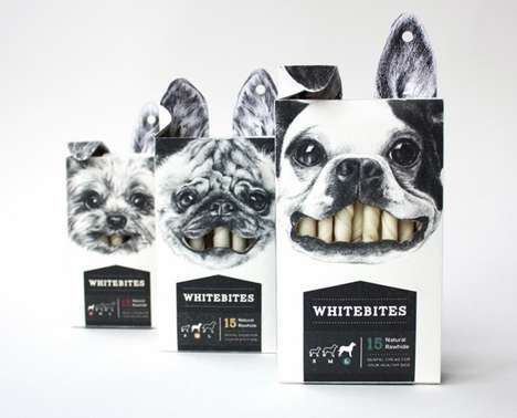 Dental Doggy Branding - Whitebites Packaging Flaunts the Canine Features Cared For by the Contents