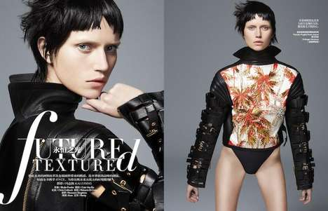 Futuristically Textured Fashion - The Harper