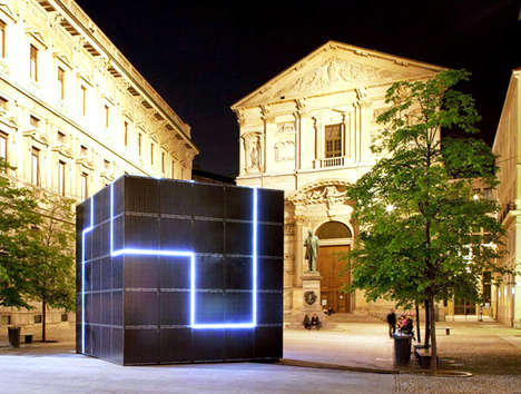 Energy-Based Art - The E-QBO Power Cube Will Brighten Spaces and Charge Electronics