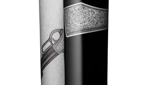 Revolver-Wrapped Bottles - Iron Duke Wine Packaging Defends Against its Winery