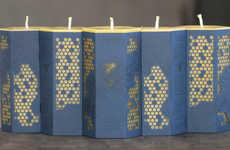 Honeycomb-Patterned Packaging - Worker B Candles Have Been Wrapped in Marvellous Hive Motifs