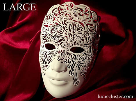 Intricate Printed Guises - These Elaborate Lumecluster Masks are 3D-Printed from Digital Designs