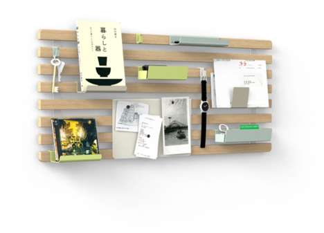 Personalizable Wall Pallets - The Organised Mess System Lets You Custom-Arrange Storage Compartments