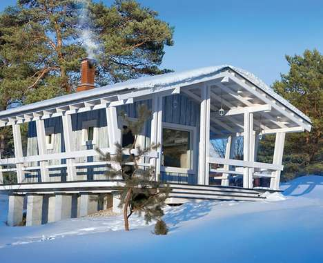 Charming Organic Winter Cottages - This Small Cottage is Functional and Only 18 Square Meters Big