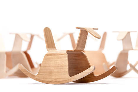 Origami-Inspired Rocking Chairs - The True Latvia Roo Rocker Chair is a Rocking Good Time
