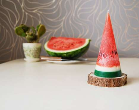 Scrumptious Fruit-Inspired Candles - These Watermelon Fruit Candles Will Have You Easily Decieved