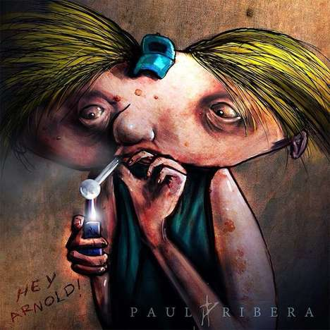 Iconic Inebriated Cartoon Drawings  - Paul Ribera Draws Your Favorite Animated Friends on Drugs