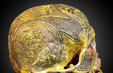 Elaborate Human Skull Art