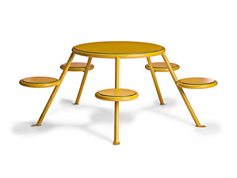 Circular Multi-Seated Benches - The Buzz Bench Brings New Style to Communal Seating