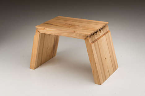 Tattered Timber Furniture - A Finnish Wood Furniture Designer Makes Use of Damaged Wood